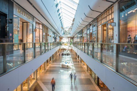 Inside Pacific Fair shopping mall