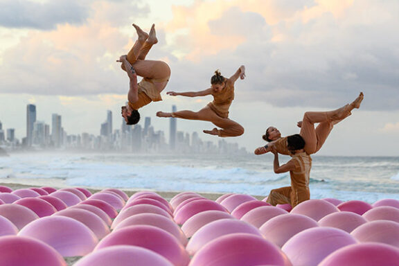 contemporary performers on the beach