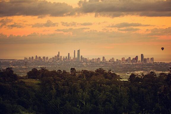 Gold Coast sunset Cityscape